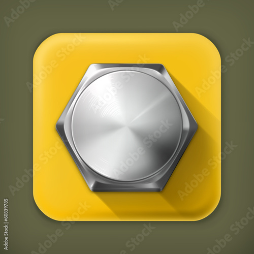 Bolt, long shadow vector icon