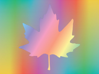 maple leaf over spectrum background