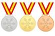 Medallas para los juegos de invierno