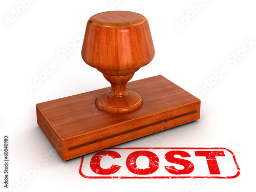 Rubber Stamp Cost (clipping path included)