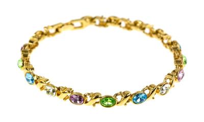 Round costume jewelry bracelet