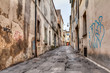 canvas print picture - narrow alley in the old town