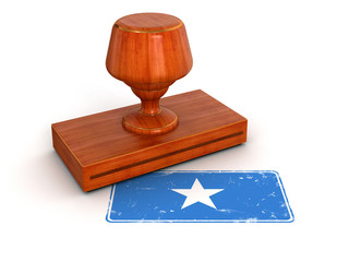 Rubber Stamp Somali flag (clipping path included)
