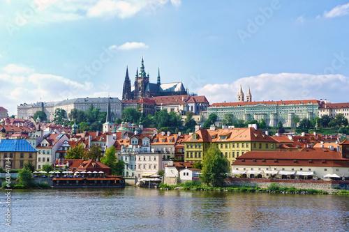 Staande foto Praag View on the Prague gothic Castle above River Vltava