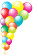 Color glossy balloons border