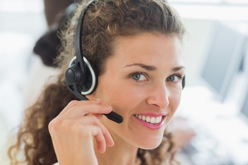 Female customer service agent