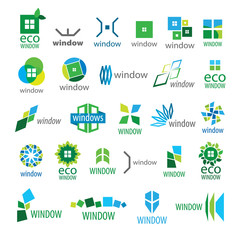 large collection of vector logos window