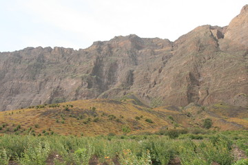 Caldera of a volcano