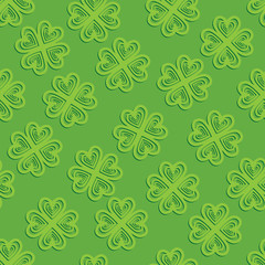 Seamless background leaf clover