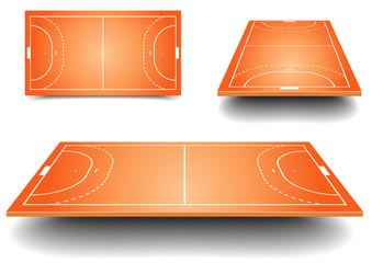 handball field set
