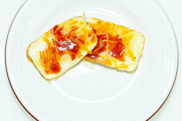 Eggs Baked in Muffin Tin with Salsa and Cheese
