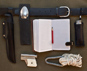 Set of travel accessories