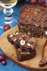 Homemade fruit and nut cake