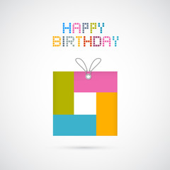 Happy Birthday Modern Paper Background