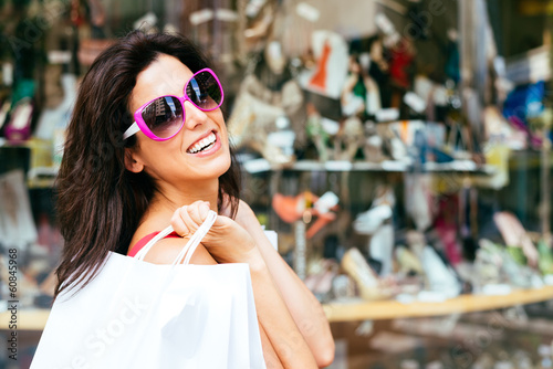 joyful fashion woman shopping