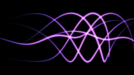 abstract background of purpe glowing wave lines (FULL HD)