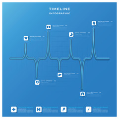 Timeline Health And Medical Infographic Design Template