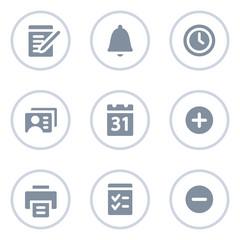 Organizer web icons, circle line series