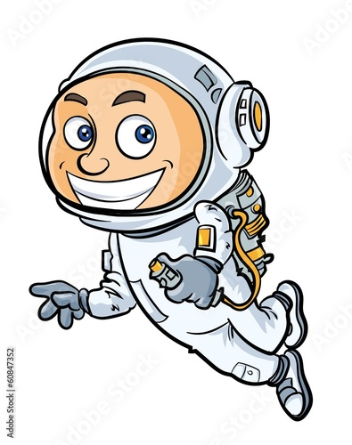 Cartoon cute astronaut