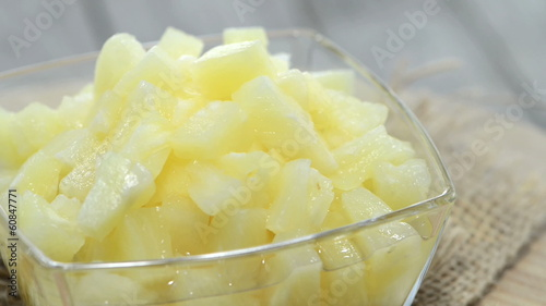 Cannes Pineapples in a bowl (loopable HD video)