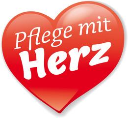logo pflegedienst mit herz