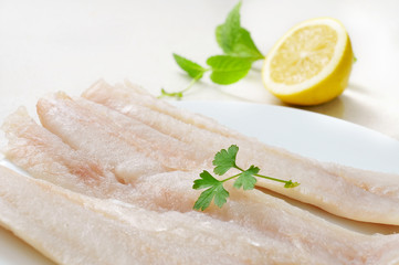 raw pollack fillets