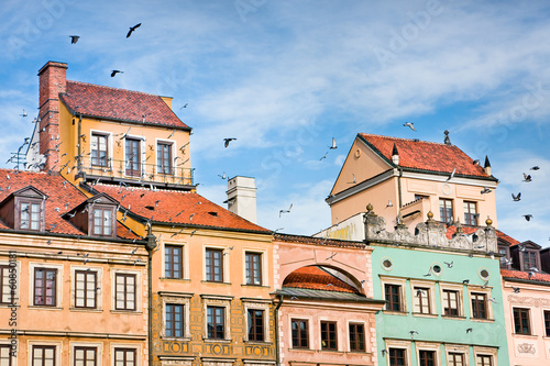 Old Town buildings in Warsaw , Poland