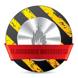 Flammabile material warning sign