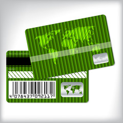Green loyalty card design