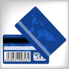 Blue loyalty card design