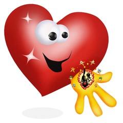 cuore innamorato