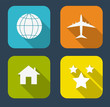 Modern Flat Icon Set for Web and Mobile Application in Stylish C