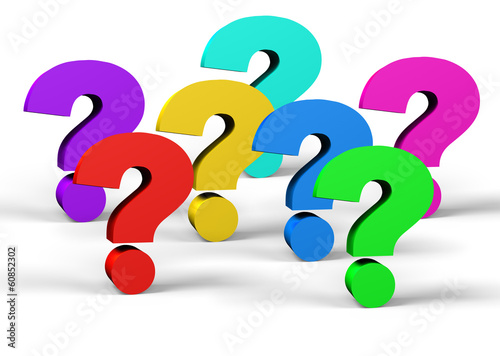 canvas print picture colorful question mark
