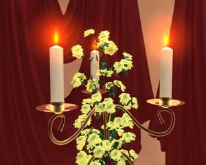 свечи в комнате