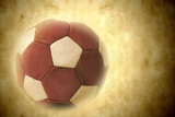 leather soccer ball in retro style