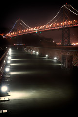 Bay Bridge at night