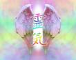 Angelic Reiki - Wings and Rainbow Kanji symbol