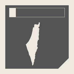 Israel map button