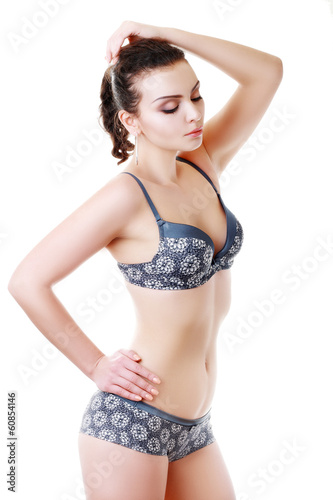 woman wearing lingerie