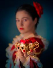 Princess Offering Heart Shaped Petals