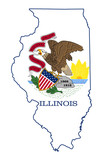 State of Illinois flag map