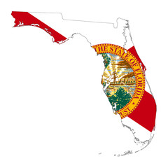 State of Florida flag map
