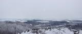 panorama paysage sous la neige