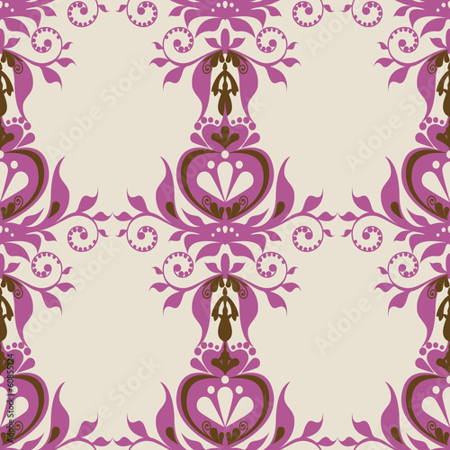 vector illustration ornament royal purple