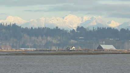 Boundary Bay and Coast Mountains, BC