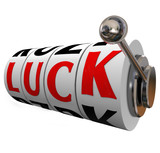 Luck Slot Wheels Gambling Fate Chance Word Spin to Win