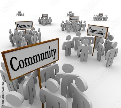 Community People Groups Around Signs Society Friendship Neighbor