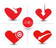 Set of Valentine Day Heart Design