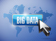 big data button illustration design