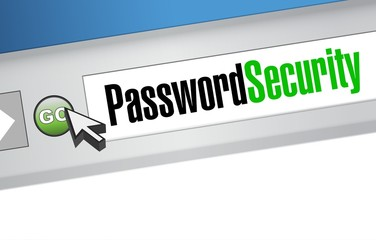password security sign browser illustration